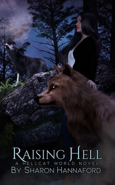 Book Cover for Raising Hell a Hellcat World Novel by Sharon Hannaford.