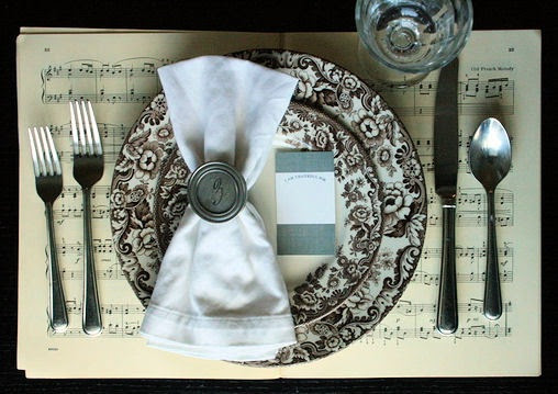 thankful card place setting