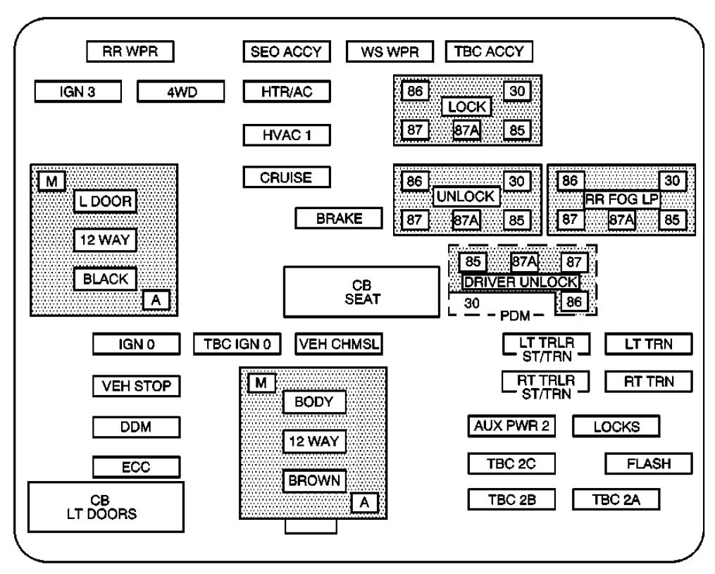 De7e 1993 Chevy 3500 Fuse Box Wiring Resources