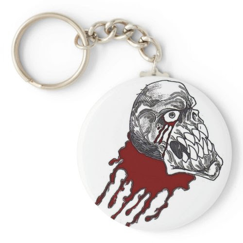 Blood Horror Skull keychain