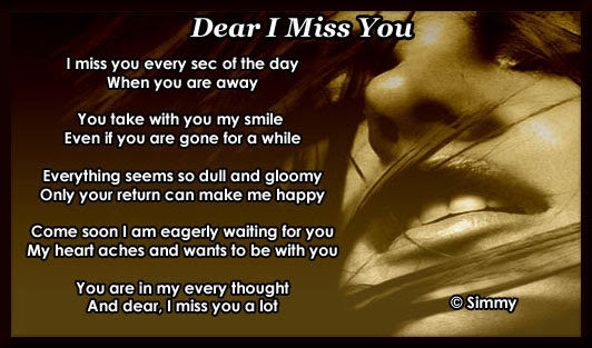 Dear I Miss You Free Missing Him Ecards Greeting Cards 123