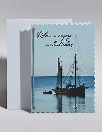 Sailboat Birthday Card   M&S