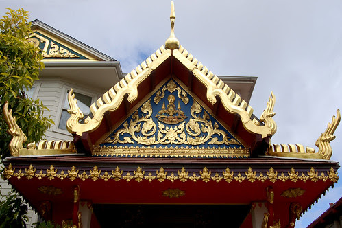 Entrance to Wat Mongkolratanaram in South Berkeley