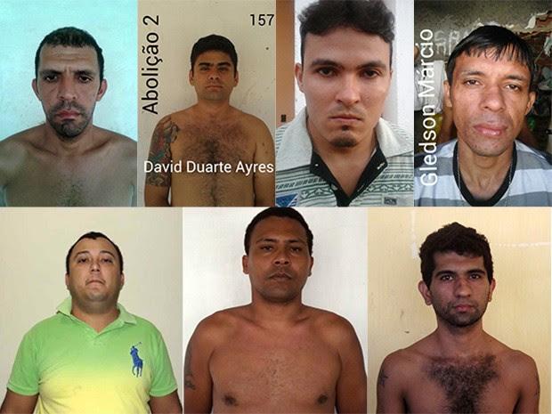 Dentre os fugitivos há acusados de estupro, tráfico de drogas e assalto (Foto: Divulgação/Sejuc)