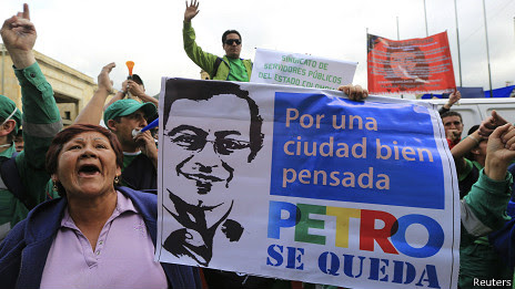 Manifestante a favor de Gustavo Petro