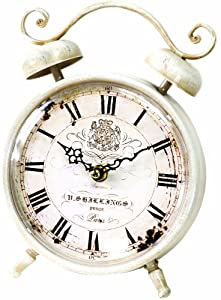 Manual Woodworkers & Weavers Flower Market White Rise and Shine Clock