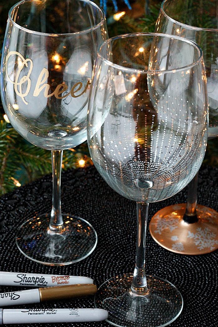 Diy Wine Glasses Using Sharpies Belle Vie