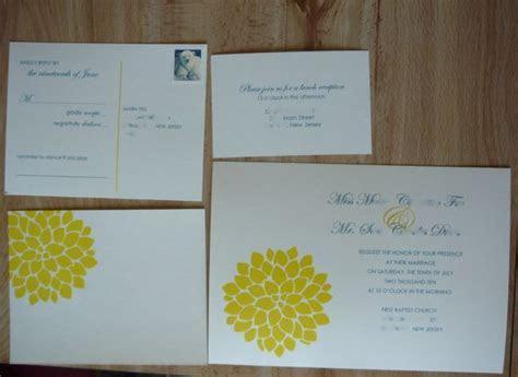 DIY Stamp Invitation   Weddingbee Photo Gallery