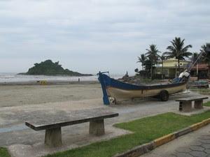 Praia dos Sonhos, em Itanhaém, guarda estátua e lembranças da época da gravação da novela. (Foto: Mariane Rossi/G1)