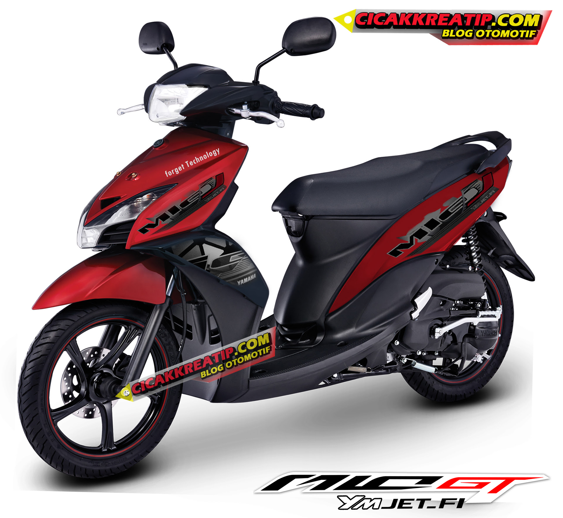Ide 89 Modifikasi Motor Mio Gt Warna Merah Terbaru Dinding Motor