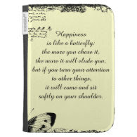 Inspirational Happiness Quote Kindle 3 Cases