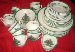 Spode Christmas Tree dishes on eBay