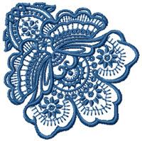 Floral Waltz embroidery designs set