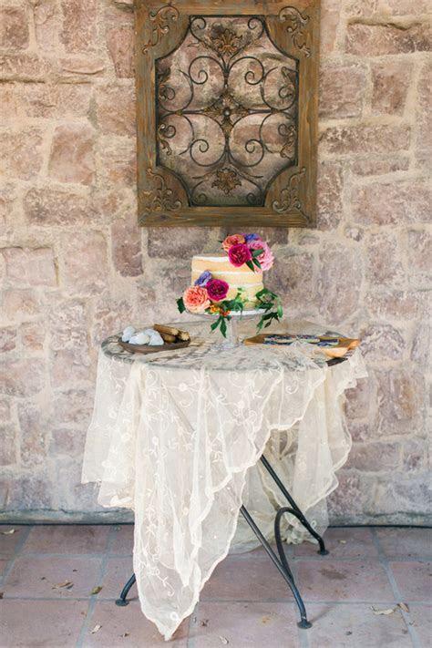Colorful Spanish backyard wedding inspiration   100 Layer Cake
