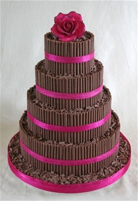 Wedding Cakes Pictures: Chocolate Curls Wedding Cake