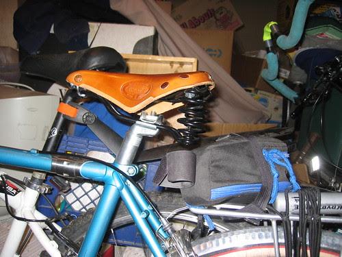 New Brooks.  Hmm, old seat bag no longer fits...
