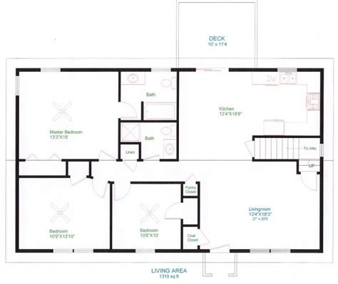 awesome simple floor plans   homes  home plans