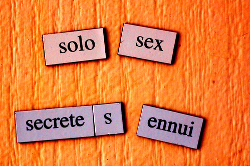Magnetic poetry 7:  Plus, you'll go blind