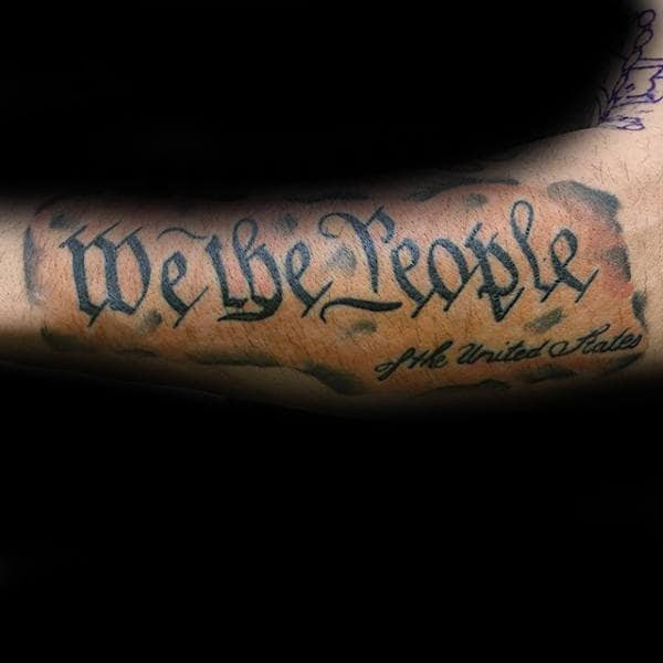 60 We The People Tattoo Designs For Men Constitution Ink Ideas
