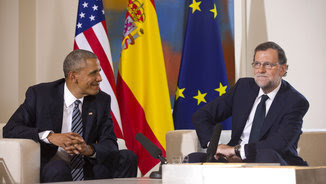 Obama i Rajoy en la roda de premsa posterior a la reunió a La Moncloa (EFE)