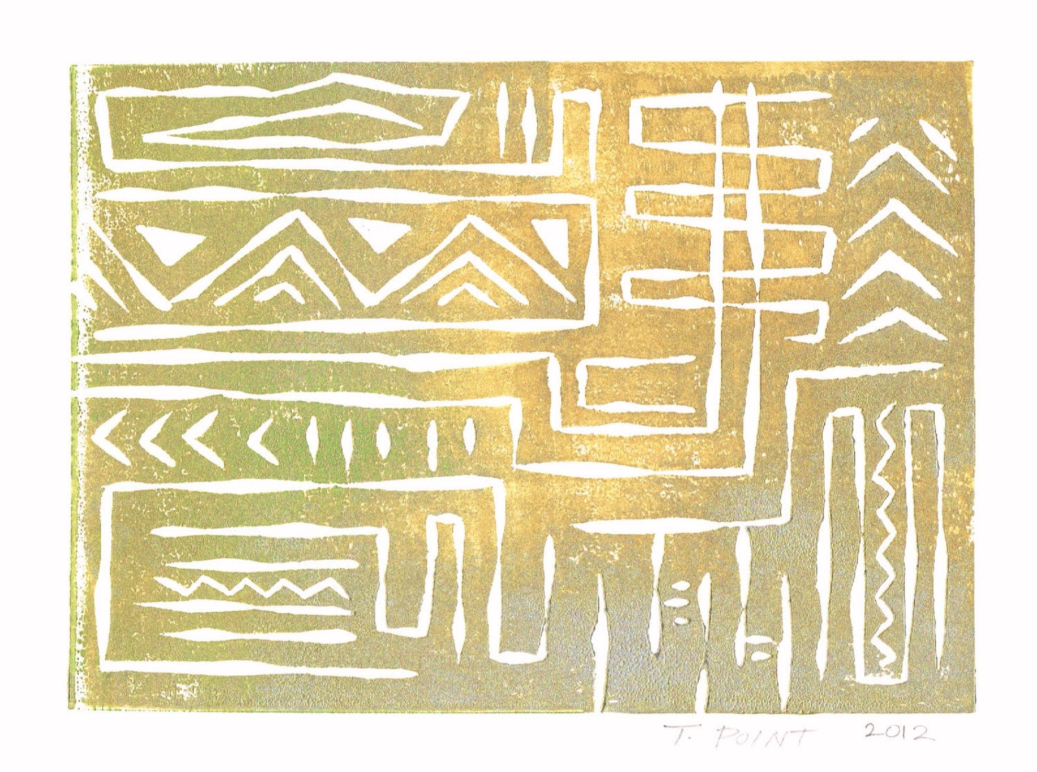 SALE CLEARANCE Abstract Aztec Tribal Pattern Art by printwork