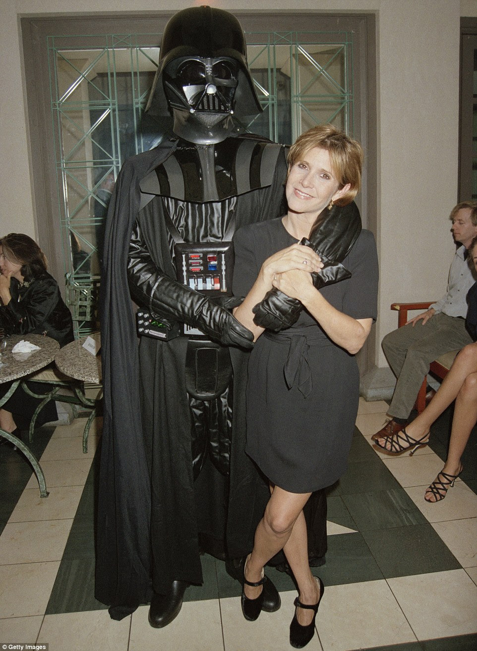 And while she has been successful in other aspects of her life, Star Wars seemed to follow Fisher (pictured in 1995) throughout her life - most recently visual effects were used to bring a young Princess Leia into the newest Star Wars film, Rogue One