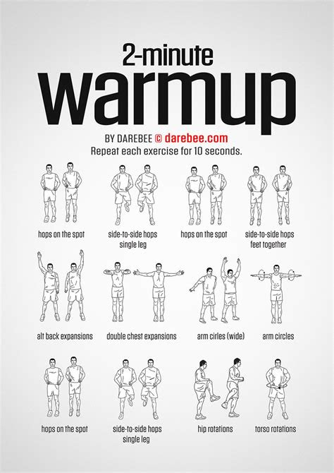 2 Minute Warmup | Warm ups before workout, Workout warm up