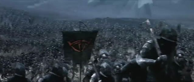 The opening battle of Lord of the Rings
