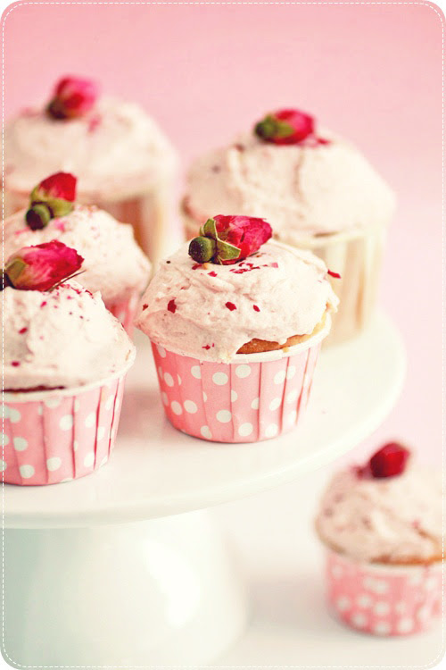 Lychee Rose Cupcakes