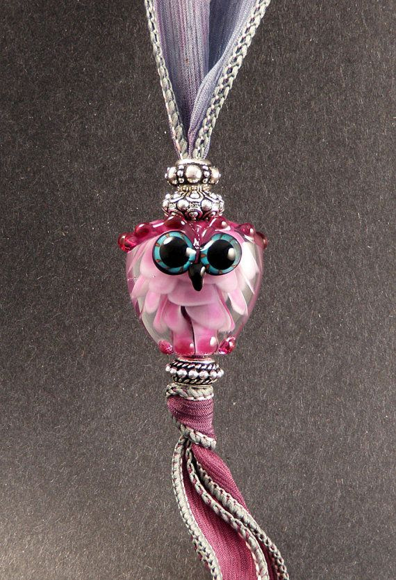 Pretty Pink Art Glass оf PeggySudzLampwork