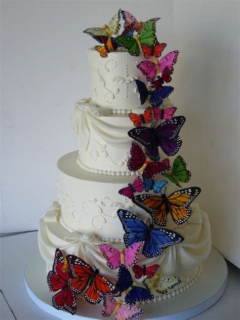 Butterfly Wedding Cake Decorations   Wedding and Bridal