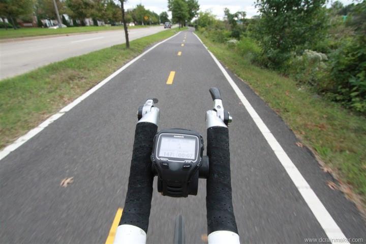 Garmin FR910XT on Garmin Forerunner Rubber Bike Mount in Aerobars