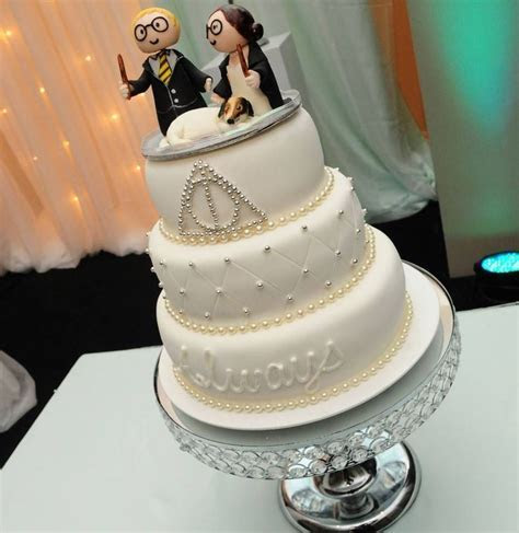 Harry Potter Themed Wedding. Cake Always. Deathly Hallows