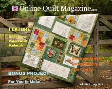 Online Quilt Magazine Vol 1 No 1 Cover