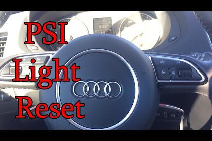 Audi A3 Tire Pressure Reset