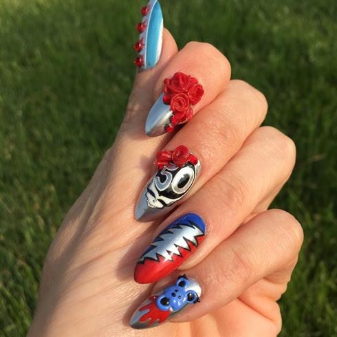 Grateful Dead Nail Art - Nail Art Gallery