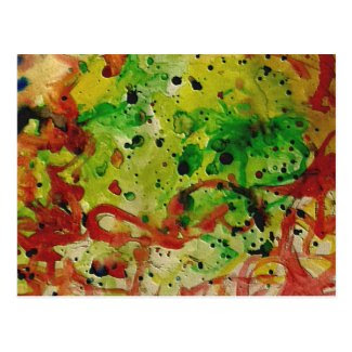 Abstract Watercolor Postcard