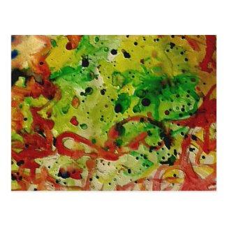 Abstract Watercolor Postcard