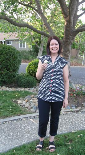 Karen with gardenia