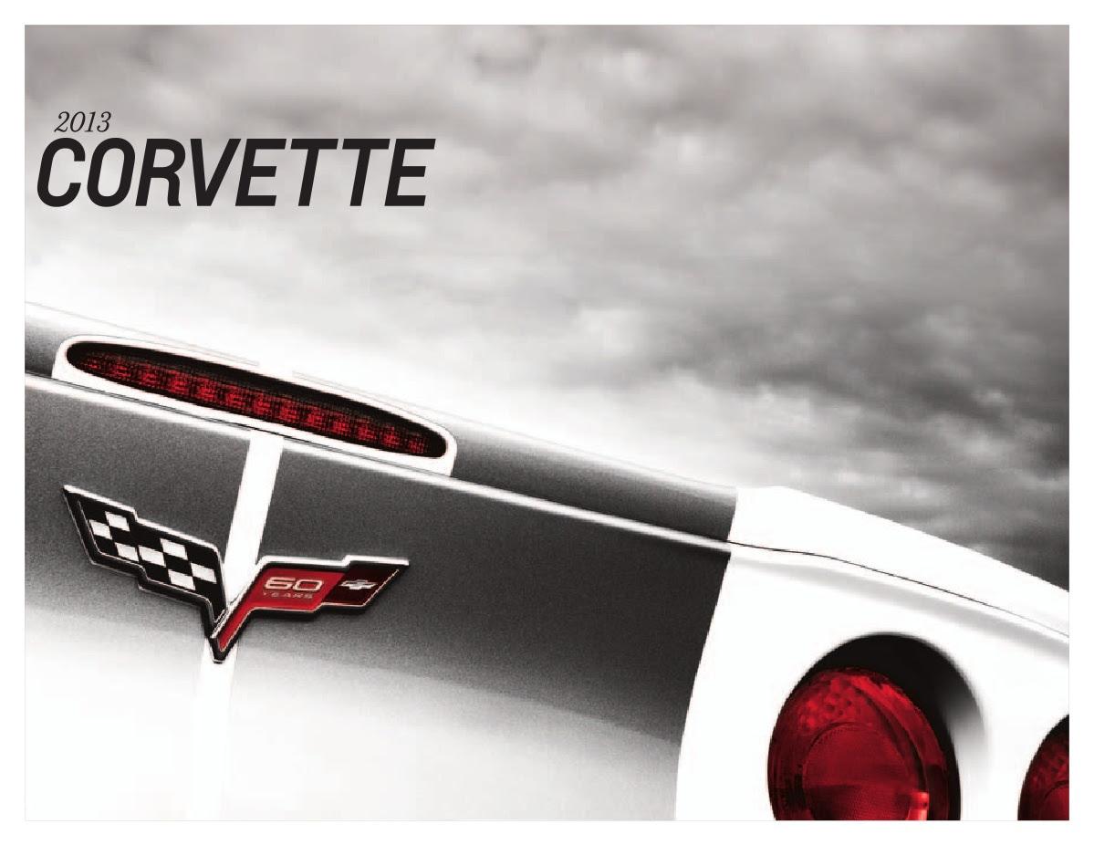 Gm 2013 Chevrolet Corvette Sales Brochure