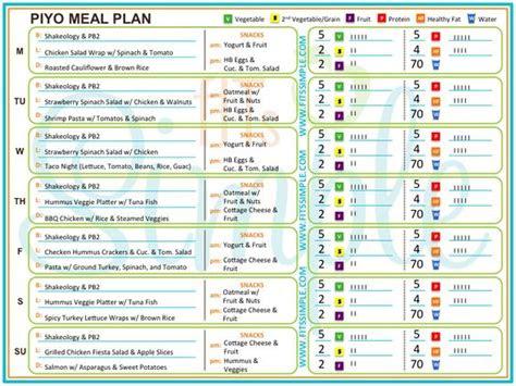 piyo meals  recipes check   week  meal plan