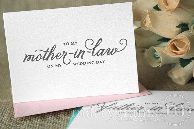 Wedding Card To Your Future Mother In Law Father In Law Parents