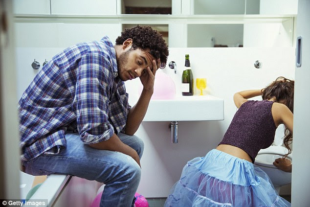 Not ideal: Having to watch your date while their head is in the toilet may put a quick end to any chance of a second date