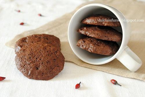 Biscotti al Cioccolato e Peperoncino-Hot Chocolate Chip Cookies