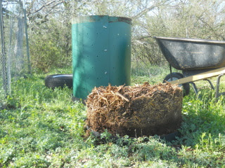 Cylinder Container Compost Pile