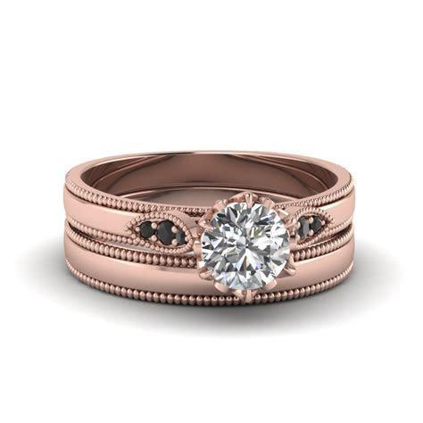Stunning Black Diamond Wedding Ring Sets   Fascinating