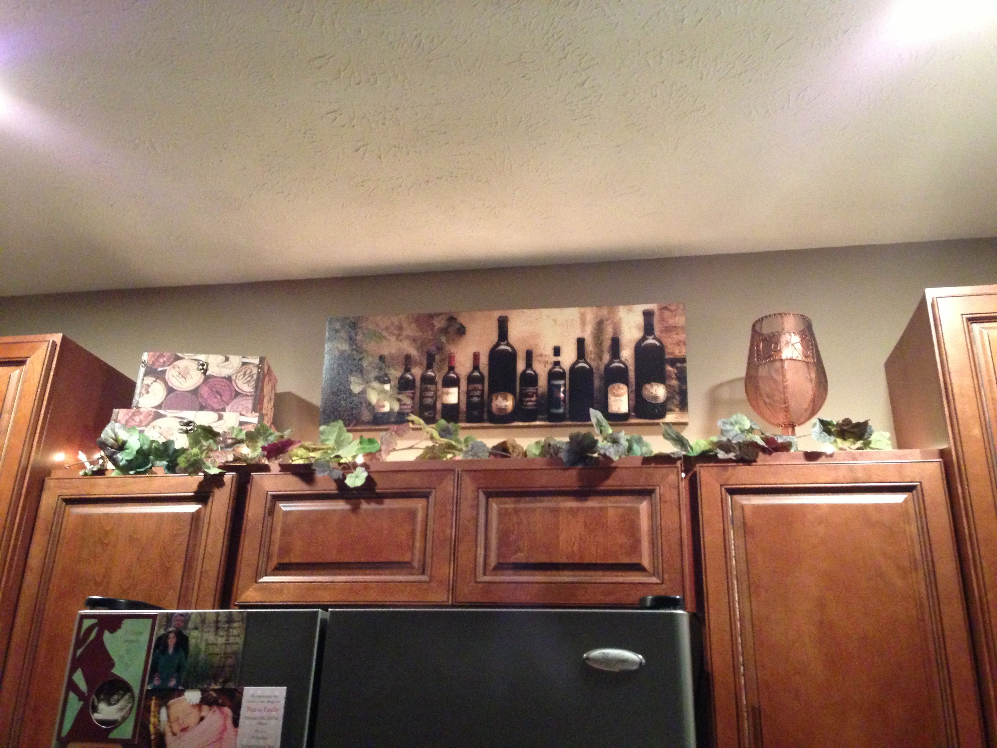 Wine kitchen cabinet decorations  Home decor ideas  Pinterest