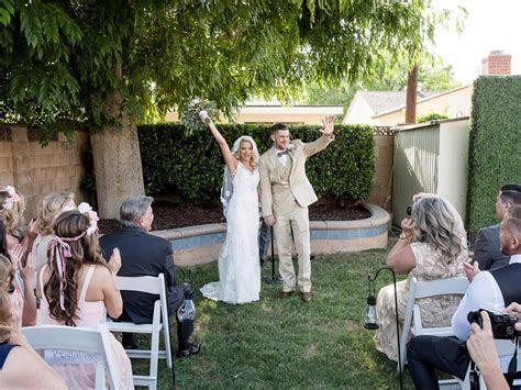 A Rustic and Romantic Backyard Wedding
