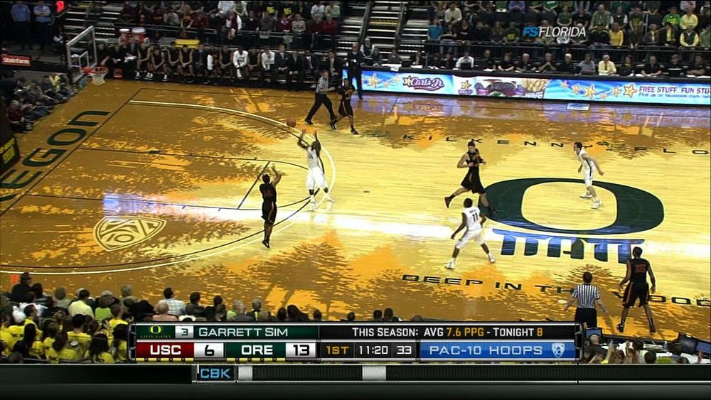 Photo Oregons New Basketball Court May Cause Retina Damage