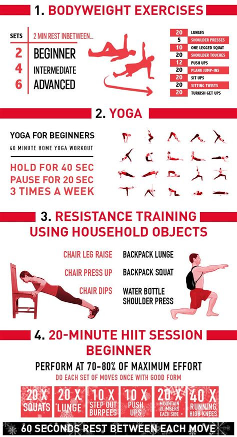 bodyweight workouts infographic infographics